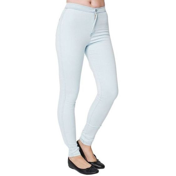 American Apparel Easy Jean ($94) ❤ liked on Polyvore featuring jeans, calças, american apparel jeans and american apparel