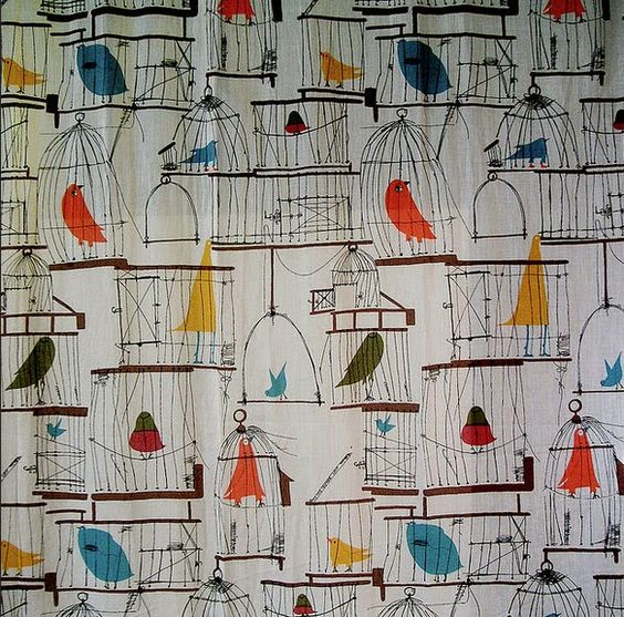 Curtain Ideas: White curtains with birds on them #curtains with ...