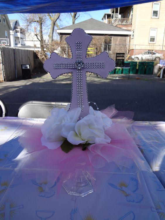 Centro de mesa para primera comunión first communion