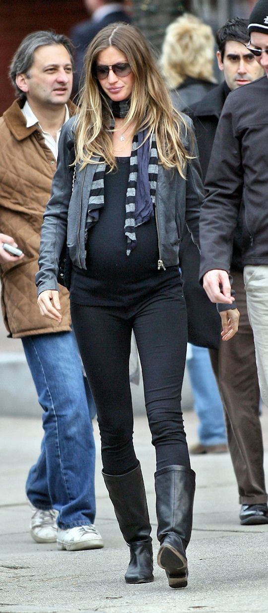 cute giselle pregnant. god knows most of us probably wont look this trim but i…
