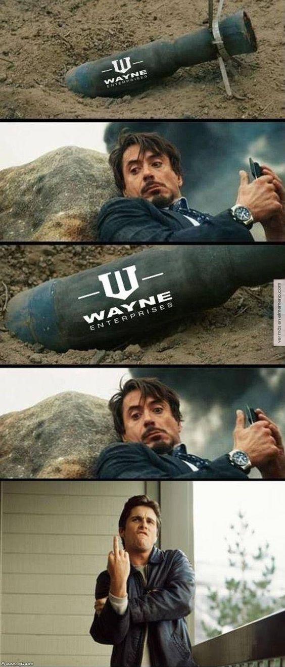 Bruce Wayne trolleando a Tony Stark