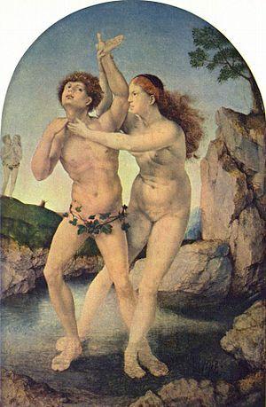 La metamorfosis de Hermafrodito y Salmacis es una obra del pintor flamenco Jan Gossaert, llamado Mabuse. Fue realizado hacia el año 1520. Esta tabla mide 32,8 cm de alto y 21,5 cm de ancho cada tabla. Se conserva en el Museo Boymans Van Beuningen de Róterdam, Países Bajos.  Aquí se narra un episodio del Libro IV de Las metamorfosis, de Ovidio. La náyade Sálmacis se enamora de Hermafrodito, un muchacho al que ha visto bañarse desnudo: