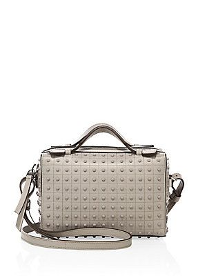 Tod's Diodon Mini Studded Leather Satchel - Grey - Size No Size