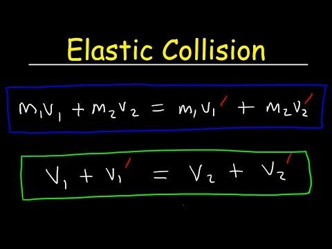 Elastic Collisions In One Dimension Physics Problems Conservation Of Momentum Kinetic Energy Youtube Physics Problems Physics Kinetic Energy
