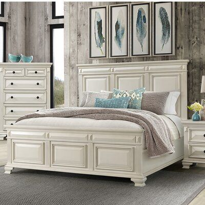 Cheadle Solid Wood Low Profile Standard Bed Size King In 2020 Master Bedroom Furniture White Bedroom Set Cream Bedroom Furniture