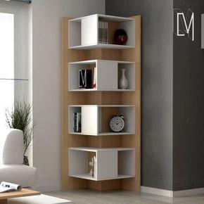 wood Shelf Corner Living Rooms  Living room corner furniture