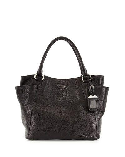 prada crocodile handbag - Prada Daino Side-Pocket Tote Bag, Black (Nero) | Handbags ...