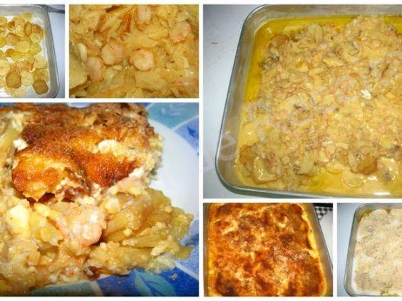 Receita Prato Principal : Bacalhau gratinado com camarão de Ana Luísa