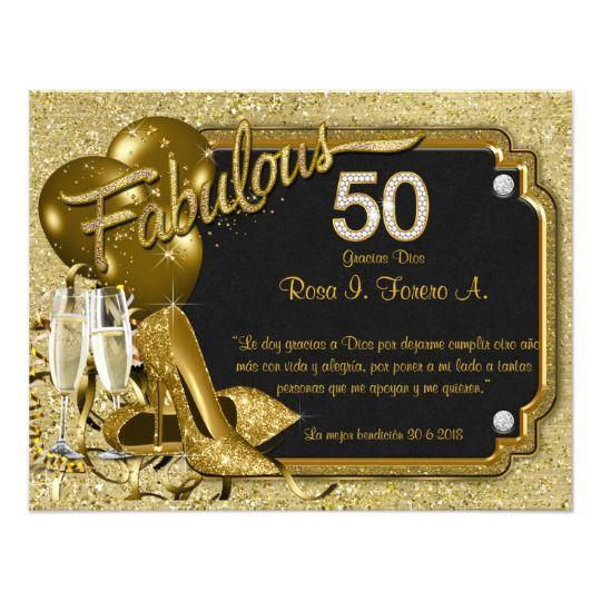 Womans Fabulous 50 Birthday Party Invitation Zazzle Com