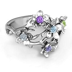 "Sterling Silver ""Garden Party"" Ring #jewlr"