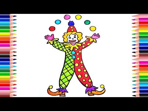 Drawing Colored Joker Clawn Kids To Learn Learn Colors With Yourtube School Youtube Joker Drawing For Kids Learning Colors Joker Drawings