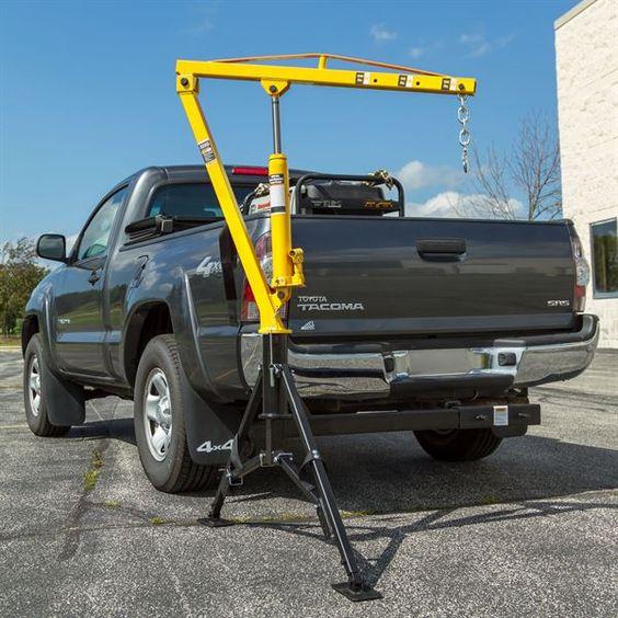 Apex Hydraulic Receiver Hitch Crane 1 000 Lb Capacity Pickup Trucks Trucks Truck Hitch