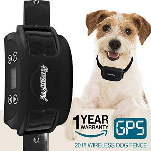 Angelakerry Wireless Dog Fence System With Gps Outdoor Invisible