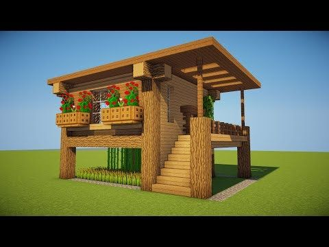 Next Level Survival How To Build A Survival House In Minecraft Minecraft Stream Minecraft House Designs Easy Minecraft Houses Minecraft House Tutorials