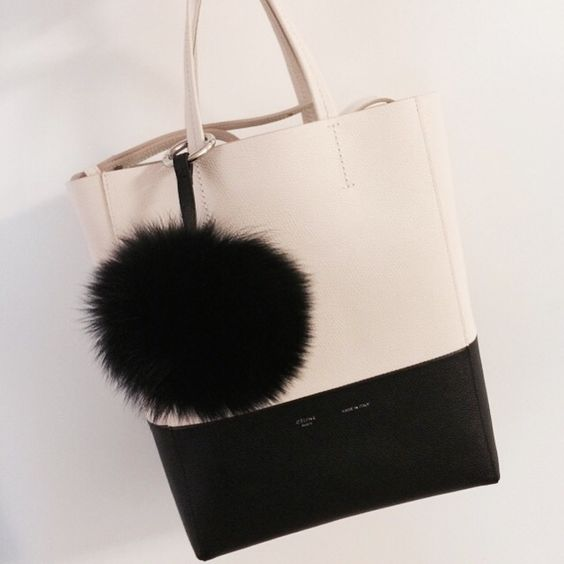 celine luggage bag online shop - Celine bicabas, cabas strap, small cabas with foxfur keyring ...