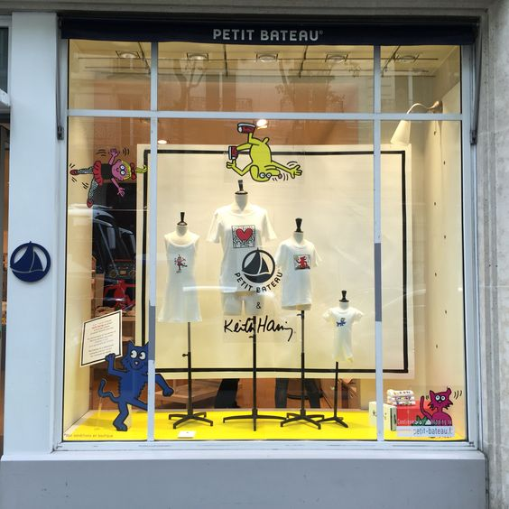 Petit Bateau&Keith Haring windows by 24 AVRIL