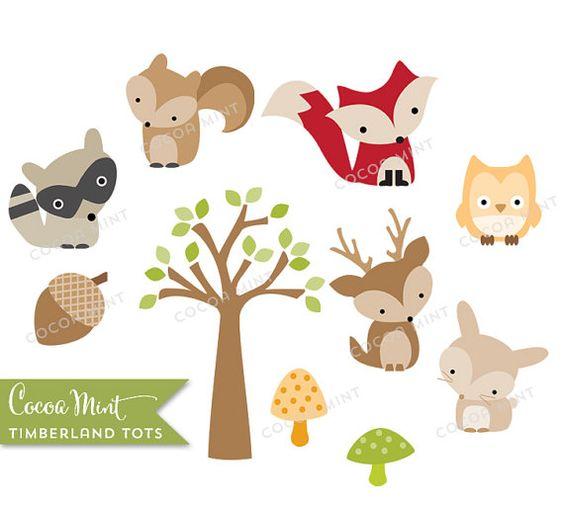 free clip art woodland animals - photo #32