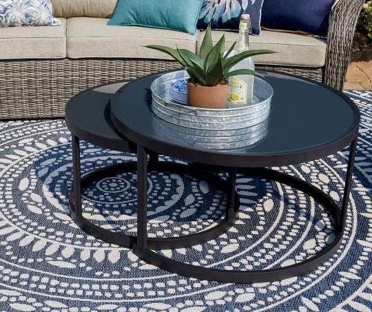 I Found A Lakewood Double Round Nested Coffee Tables 2 Piece Set