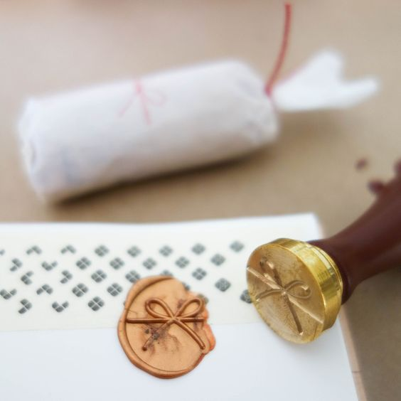 """Wax Seal Stamp / """"Mizuhiki Ribbon"""" by The Daily Roe"""