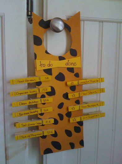 Cat Inspired Chore Chart For Kids