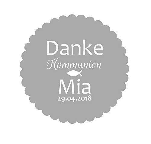 25 Geschenkanhänger Etiketten Tags Hochzeit Taufe Kommunion Konfirmation Blume