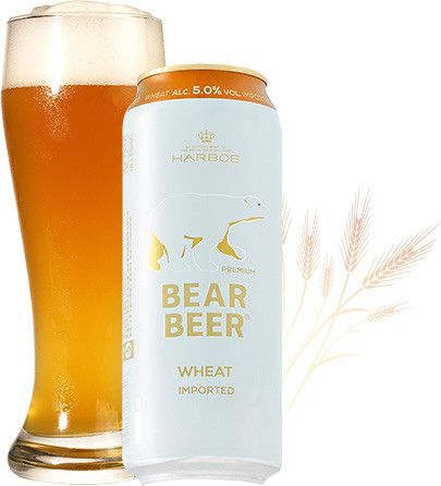 Bia Gấu Bear Beer Wheat Imported 5% - Lon 500ml