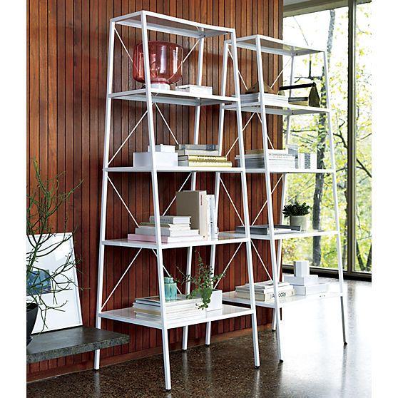 hancock white bookcase  | CB2