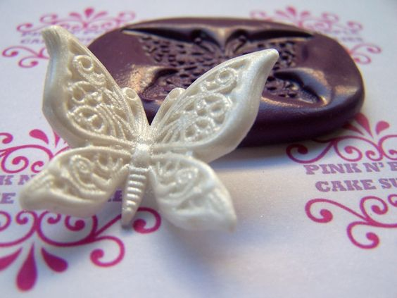 Butterfly Silicone Mold by pinkNpurpleMould on Etsy, $7.00