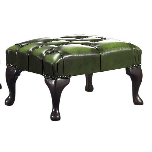 Astoria Grand Colombo Leather Footstool Leather Footstool