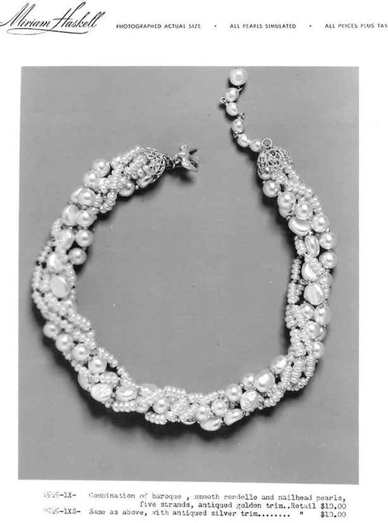 Combo 5 strand necklace-baroque_ smooth rondelle_ nailhead pearls.jpg (614×828)