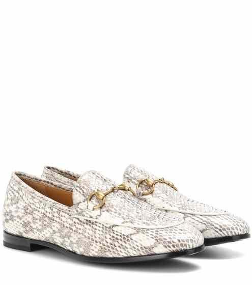 Jordaan snakeskin loafers | Gucci