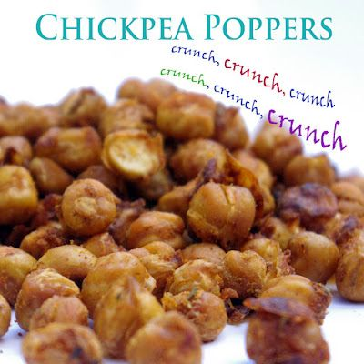 Chickpeas, Poppers recipe and Vegans on Pinterest