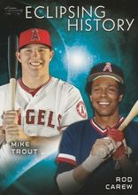 2015 Topps Eclipsing History #EH-7 Rod Carew Mike Trout - Los Angeles Angels
