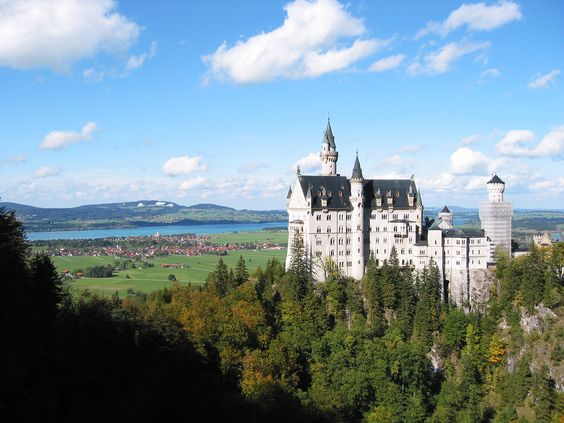 Neuschwanstein - Swan castle. Would love to go there someday.