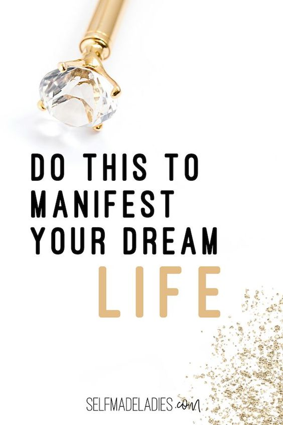 Pinterest Graphic with Title DESIGN YOUR DREAM LIFE NOW AND START TO LIVE IT TODAY - selfmadeladies.com