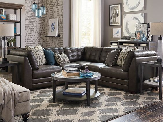 affinity small l shaped sectional we leather and furniture