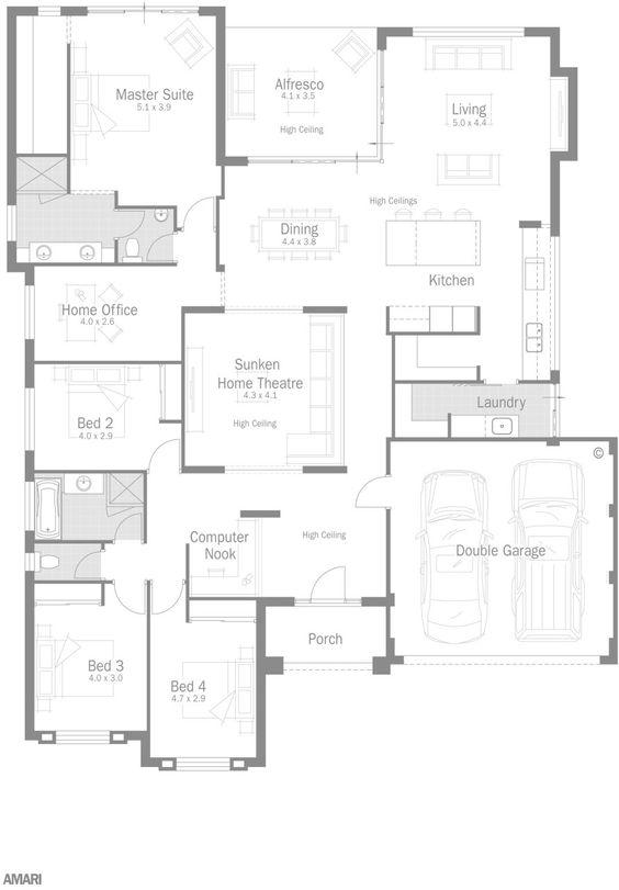 Dale alcock amari floorplan floor plans pinterest for Dale alcock home designs