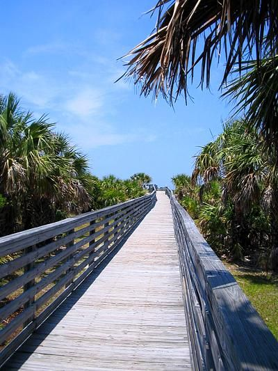 Caladesi Island State Park, near Tampa - only accessible by ferry or private boat. Once there you can kayak through the mangroves, hike or picnic on the beach: