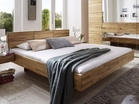 Bett  - zirbenholz schlafzimmer modern