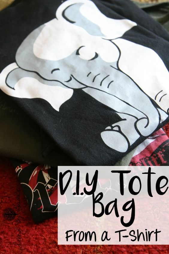 DIY Tote Bag from a T Shirt- this is so simple to make and a great ...