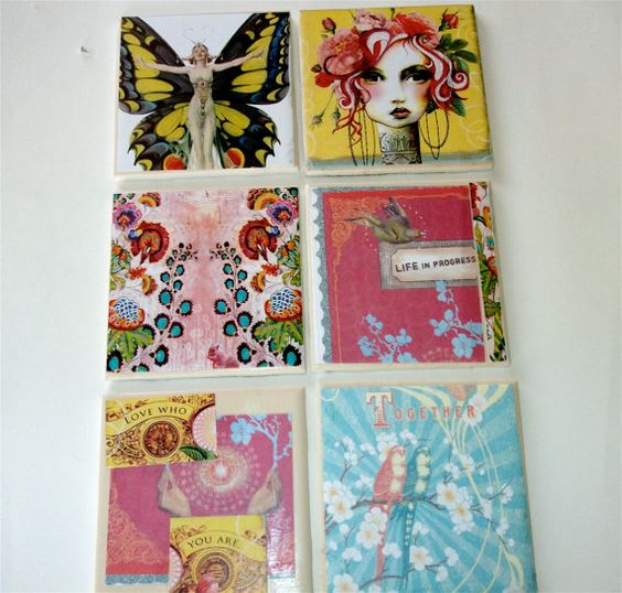 Coasters Wall Decorations by punkrocksquirrel on Etsy, $20.00