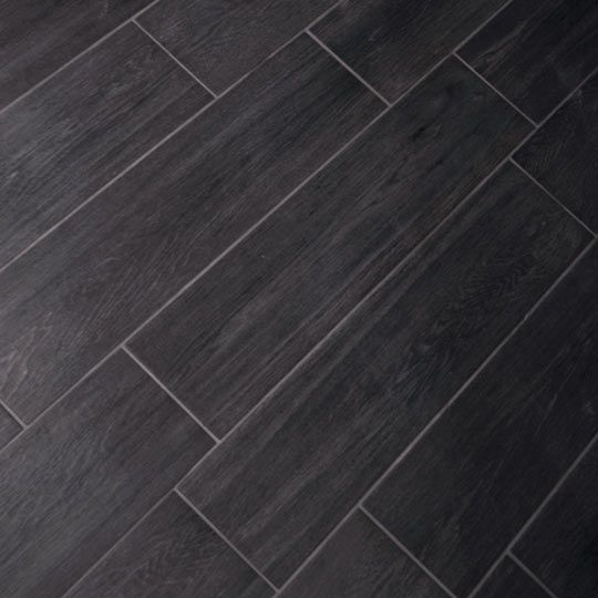 Bathroom Floor Tile Effect : Cm carbon vintagewood tile gs n dark bathroom
