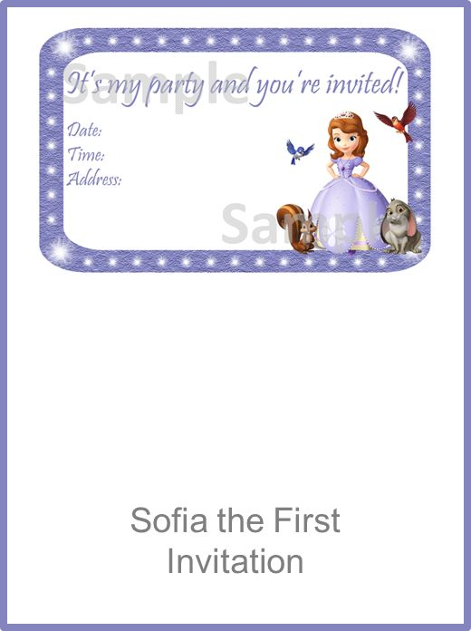 Sofia the First Invitation FREE PDF Download