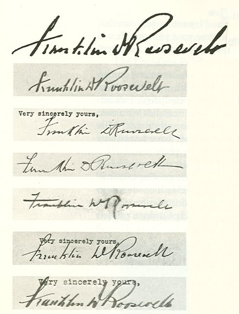 famous signatures franklin d roosevelt handwriting