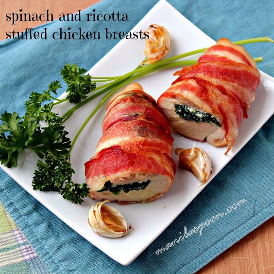 Stuffed chicken breasts, Stuffed chicken and Spinach ricotta on ...