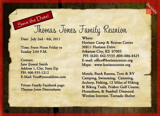Family Reunion Invitations Pick your by FromHeadtoToeDesigns - invitations for family reunion