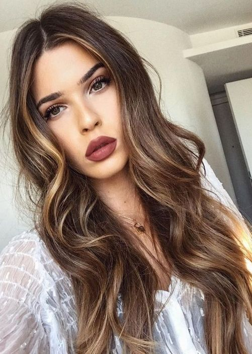 Brown Hair Color Ideas for Long Length Hairstyles 2018 Balayage