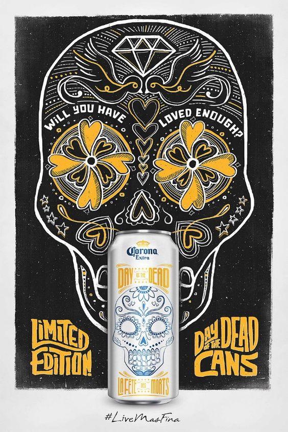 Corona - LiveMasFina - Halloween - Día de los muertos - Day of the dead Cans - Coronita