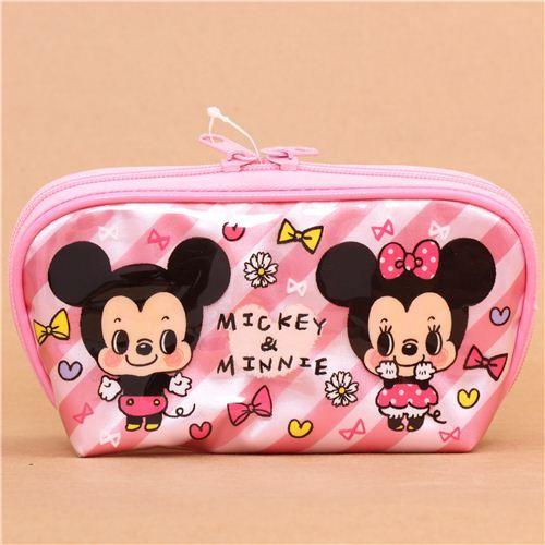kawaii pink pouch Disney Minnie Mouse pencil case