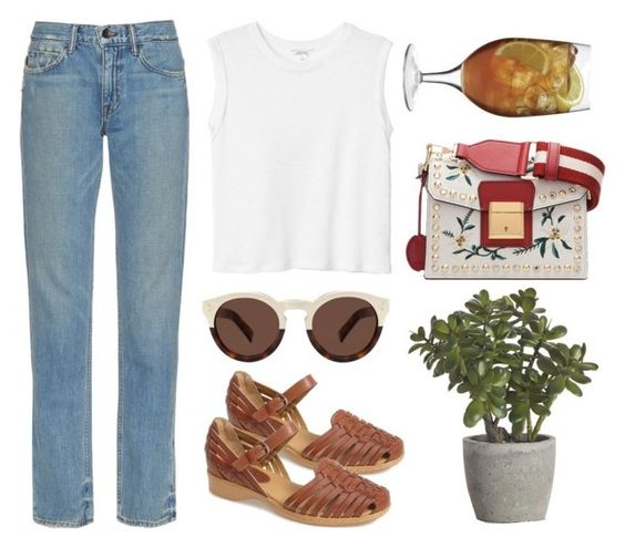 """""""smile and forget the rest part2"""" by redapplecigarettes ❤ liked on Polyvore featuring Helmut Lang, Softspots, Crate and Barrel, Monki, Bally, Illesteva and Luigi Bormioli"""
